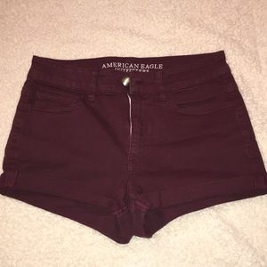 American Eagle Hi-Rise Shortie Shorts